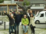 Team Gynt and Peer statue, Ringebu, Norway